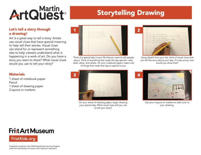 Storytelling Drawing activity sheet