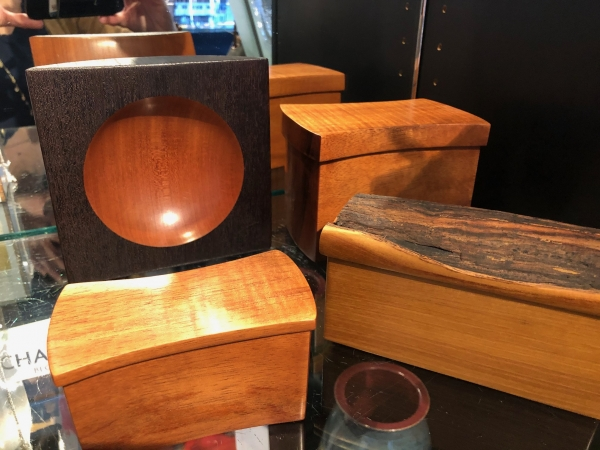 Wood boxes in Gift Shop
