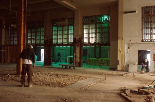 Interior of the Frist building under renovation