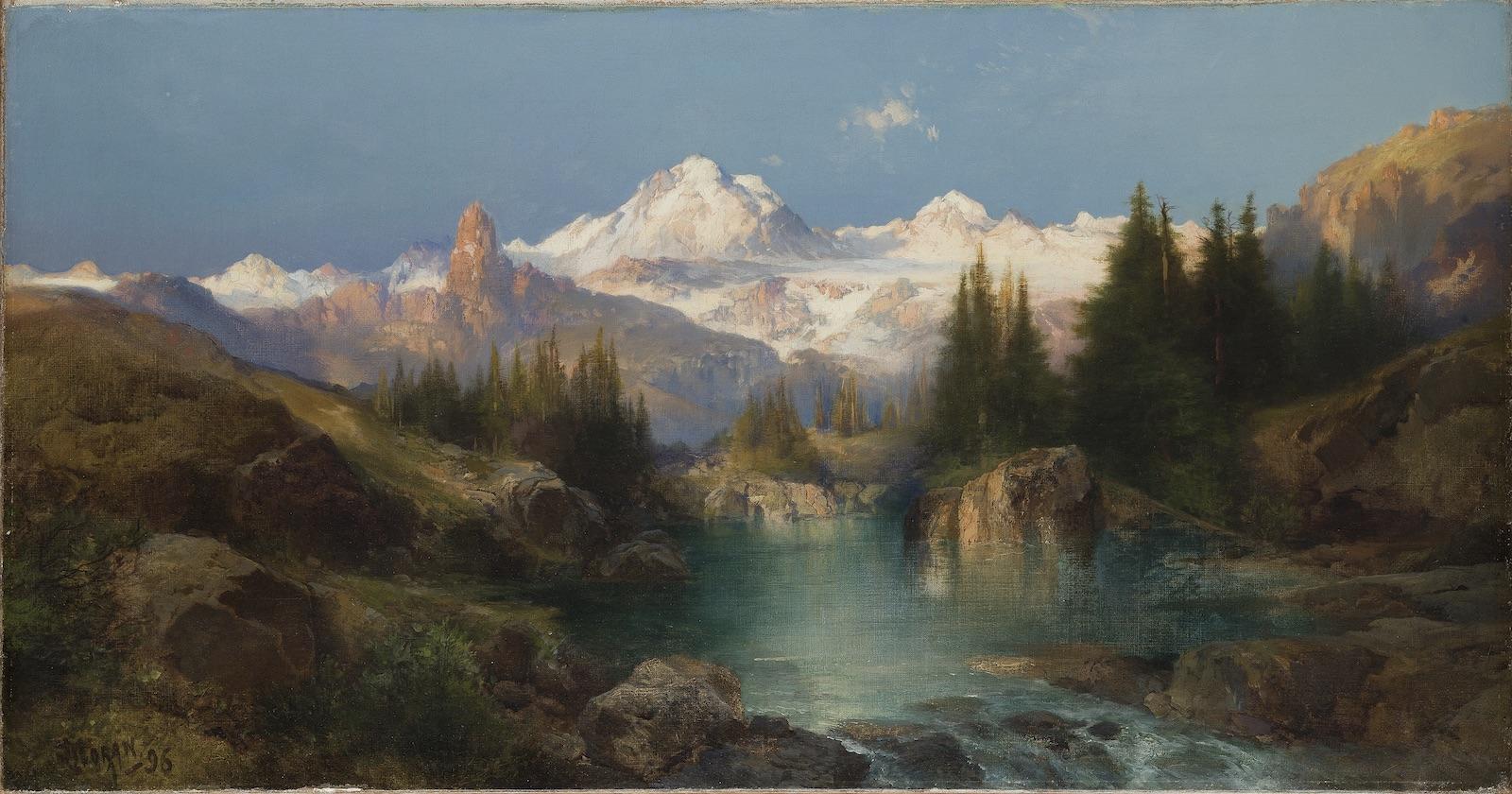 Moran_Snowy Mountain Range